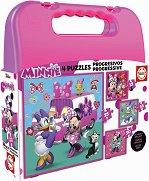 """Мини Маус и приятели - 4 пъзела от серията """"Progressive Puzzles"""" - раница"""