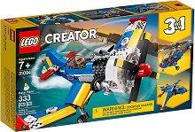 """Състезателен самолет - 3 в 1 - Детски конструктор от серията """"LEGO Creator"""" -"""