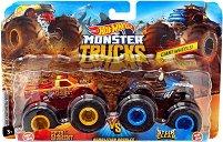 """Бъгита - Spur of the Moment vs. Steer Clear - Комплект от 2 метални колички от серията """"Hot Wheels: Monster Trucks"""" -"""