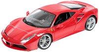 """Ferrari 488 GTB - Метална количка от серията """"Ferrari Race & Play"""" - макет"""