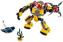 """Подводен робот - 3 в 1 - Детски конструктор от серията """"LEGO Creator"""" -"""