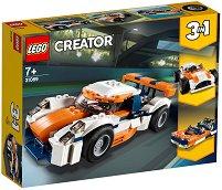 """Състезателен автомобил - 3 в 1 - Детски конструктор от серията """"LEGO Creator"""" - творчески комплект"""