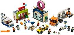 """Откриване на магазин за понички - Детски конструктор от серията """"LEGO: City"""" - играчка"""