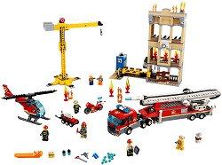 """Пожар в центъра - Детски конструктор от серията """"LEGO: City"""" - играчка"""