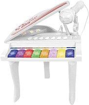 Електронно пиано с 8 клавиша - Детски музикален инструмент с микрофон -
