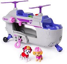 """Спасителният хеликоптер на Скай - Детска играчка със звукови и светлинни ефекти от серията """"Пес патрул"""" - фигура"""