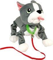 Френски булдог - Плюшена играчка за разходка -
