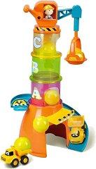 """Кран с камион 5 в 1 - Volvo - Детска сглобяема играчка от серията """"Junior"""" -"""