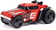 Количка с променящ се цвят - GLO Truck - Играчка с pull back механизъм, светлинни и звукови ефекти -