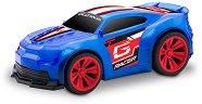 Количка с променящ се цвят - GLO Racer - Играчка с pull back механизъм, светлинни и звукови ефекти -