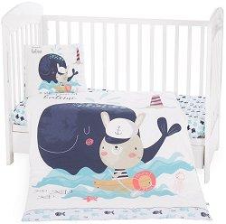 """Спален комплект за бебешко креватче - От серията """"Happy Sailor"""" -"""