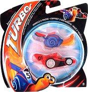 "Turbo vs Adrenalode Race car - Комплект 2 фигурки от серията ""Турбо"" - количка"