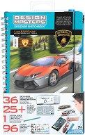 Дорисувай и декорирай сам - Lamborghini Aventador LP 700-4 - Творчески комплект с шаблони -