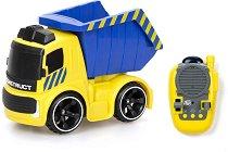 Строителен камион - Играчка с дистанционно управление и звукови ефекти - творчески комплект