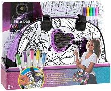 Чанта за оцветяване с пайети - Очила - Комплект с текстилни маркери за оцветяване -