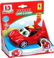 """Количка - Ferarri - Детска играчка със светлинни и звукови ефекти от серията """"Junior"""" -"""