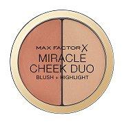 "Max Factor Miracle Cheek Duo Blush + Highlight - Дуо хайлайтър и руж за лице от серията ""Miracle"" -"