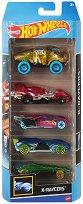 Hot Wheels - X-Raycers - Комплект от 5 метални колички - играчка