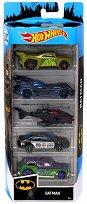 Hot Wheels - Batman - Комплект от 5 метални колички -