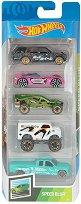 Hot Wheels - Speed Blur - Комплект от 5 метални колички -
