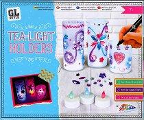 Декорирай сам светещи свещници - творчески комплект