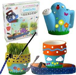 Оцвети сам саксии с трева - Творчески комплект - играчка