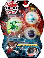 Bakugan Battle Planet - Ventus Vicerox - Комплект от 3 бойни топчета за игра -