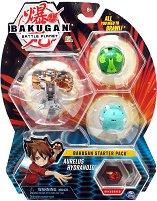 Bakugan Battle Planet - Planet Aurelus - Комплект от 3 бойни топчета за игра - играчка