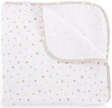 Бебешка муселинова пелена - Stars - С размери 85 x 85 cm -