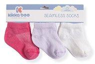 Детски памучни чорапи - Solid Purple - Комплект от 3 чифта - продукт