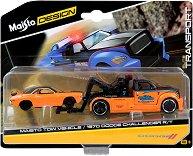 Репатрак и кола - Tow Wehicle & Dodge Challenger R/T - Комплект от 2 метални колички - играчка