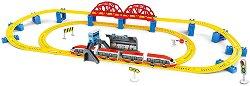Влак стрела със сглобяеми релси - Детска играчка със светлинни и звукови ефекти - играчка
