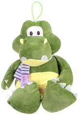 Крокодил с шалче - Плюшена играчка -