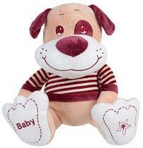 Кученце с пуловер - Baby - Плюшена играчка -