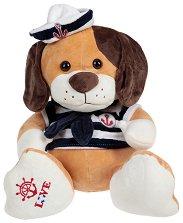 Кученце с моряшка дрешка - Love - Плюшена играчка -
