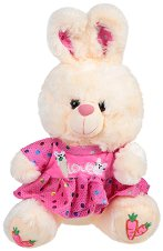 Зайче с рокля - Плюшена играчка - играчка