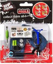 Играчка за пръсти - Тротинетка за каскади - Комплект с аксесоари - играчка
