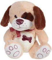 Кученце с панделка - Плюшена играчка -