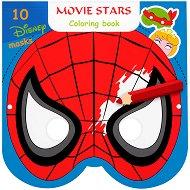Маски за оцветяване - Анимационни герои - Творчески комплект от 10 маски - играчка