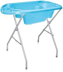 Анатомична бебешка вана за къпане - Комплект със стойка -