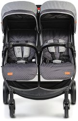 Бебешка количка за близнаци - Rome - С 4 колела -