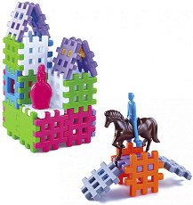 Детски конструктор - Комплект от 36 части и аксесоари - образователен комплект