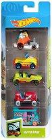 Hot Wheels - Fun Park - Комплект от 5 метални колички - играчка