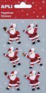 Стикери - Дядо Коледа - Комплект от 6 броя