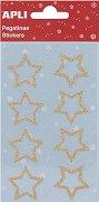 Блестящи стикери - Звездички - Комплект от 8 броя