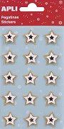 3D стикери - Коледни звезди - Комплект от 15 броя