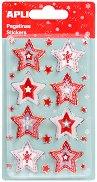 3D стикери - Коледни звезди