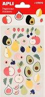 Самозалепващи стикери - Плодове - Комплект от 38 броя