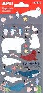 Самозалепващи стикери - Полярни животни - Комплект от 36 броя