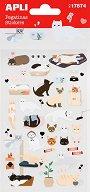 Самозалепващи стикери - Котки - Комплект от 45 броя